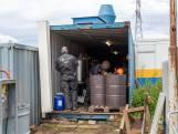 Politie vindt drugslab in container