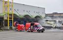 Een brand zorgt voor schade bij het distributiecentrum van AH in Tilburg.
