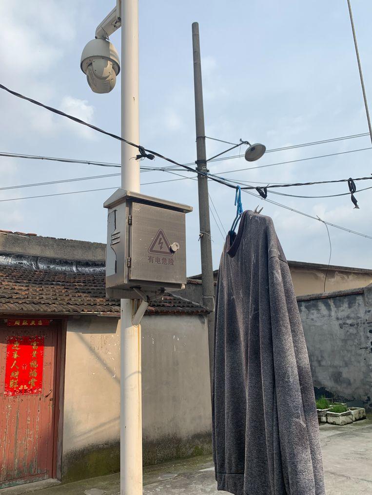 Cameratoezicht in een woonwijk in Chaohu Beeld Eefje Rammeloo