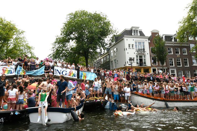 De Canal Parade is normaal gesproken onderdeel van Pride Amsterdam.  Beeld Brunopress