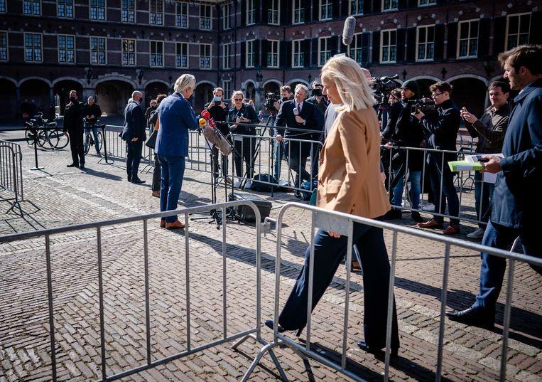 Mijn geheime genoegen gold Sigrid Kaag, die in de nacht van Rutte had gesproken over het patroon van onwaarheid. Beeld ANP