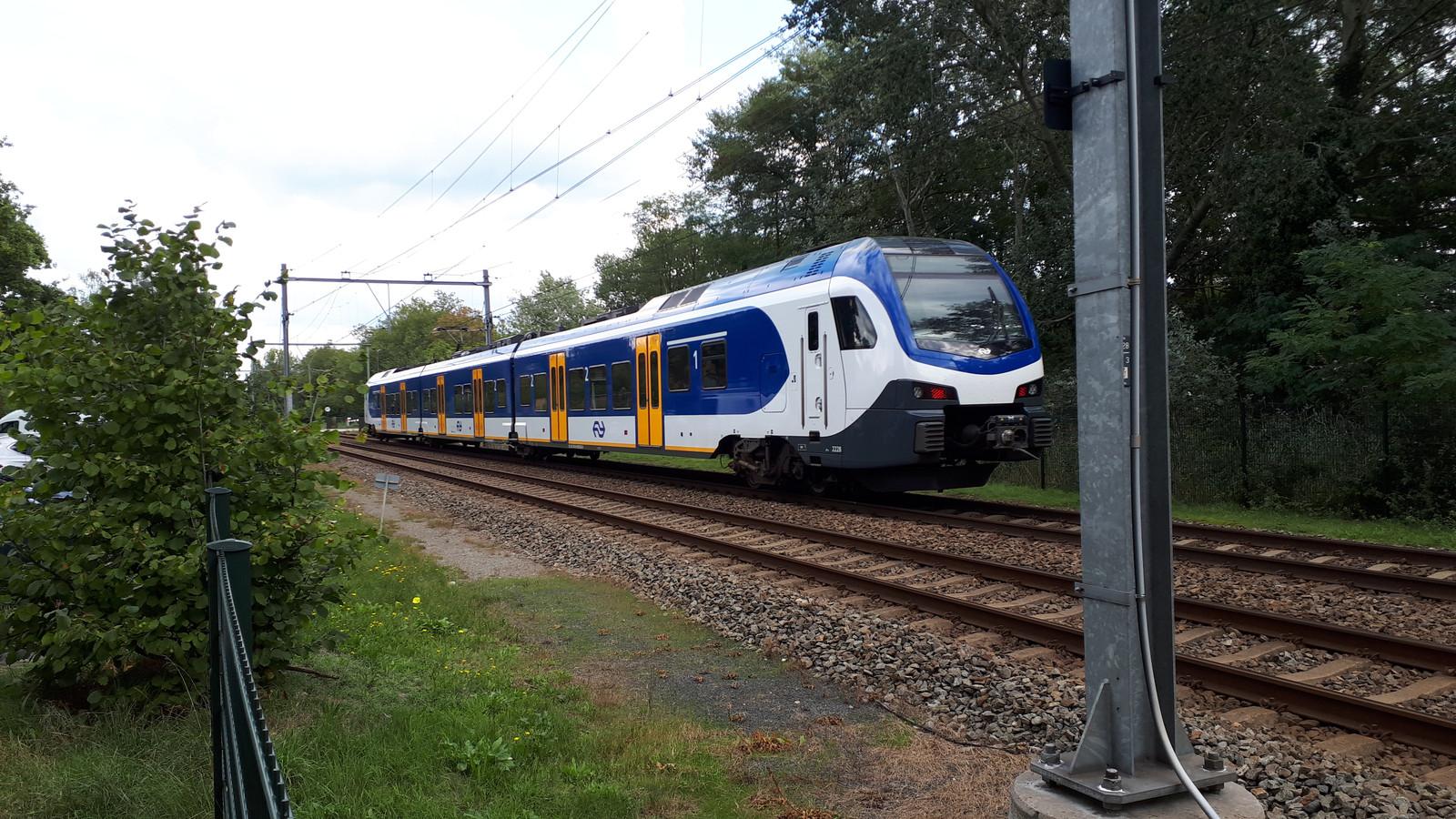 Het spoorvak bij de Spoorstraat in Rosmalen.