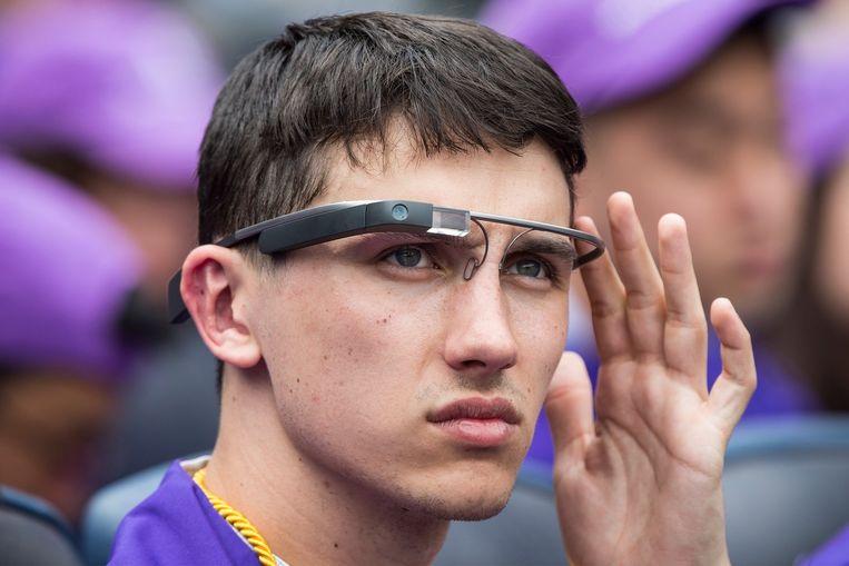 Een Amerikaanse student met een Googlebril. Beeld afp