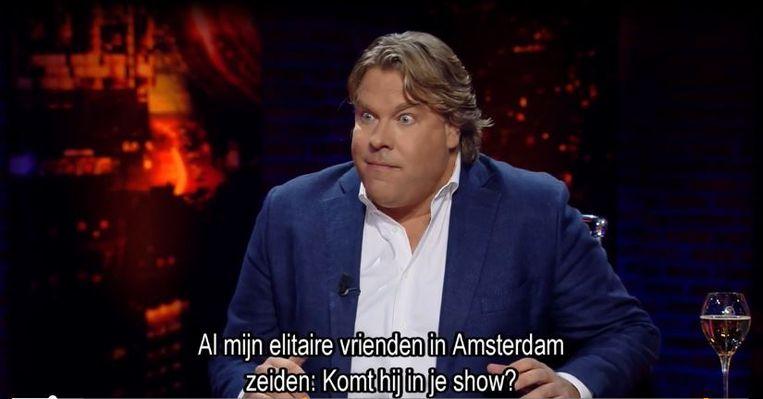 Vaak besprak Jensen vraagstukken zoals klimaatverandering vanuit een – volgens hem op televisie gemiste – rechtse invalshoek. Beeld RTL 5