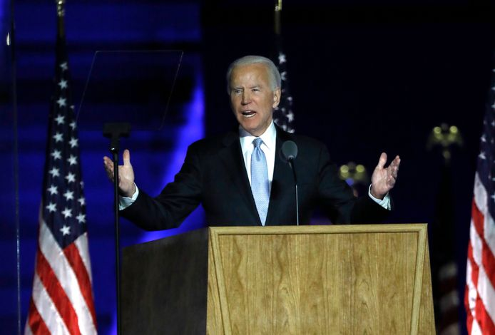 De verkozen president Joe Biden haalt nu ook de staat Georgia binnen.