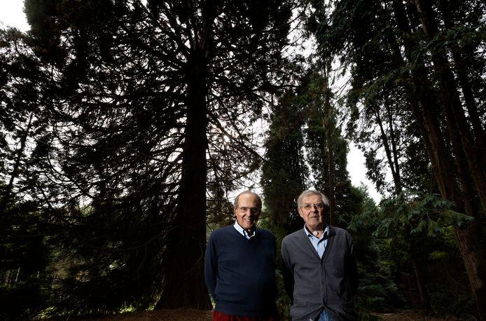 Frits jr. (links) en Warner Philips op landgoed De Wielewaal in Eindhoven.