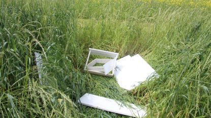 Sluikstorten: witte kasten gedumpt achteraan Vissenstraat, wasmachine achtergelaten langs D'Heerselweg