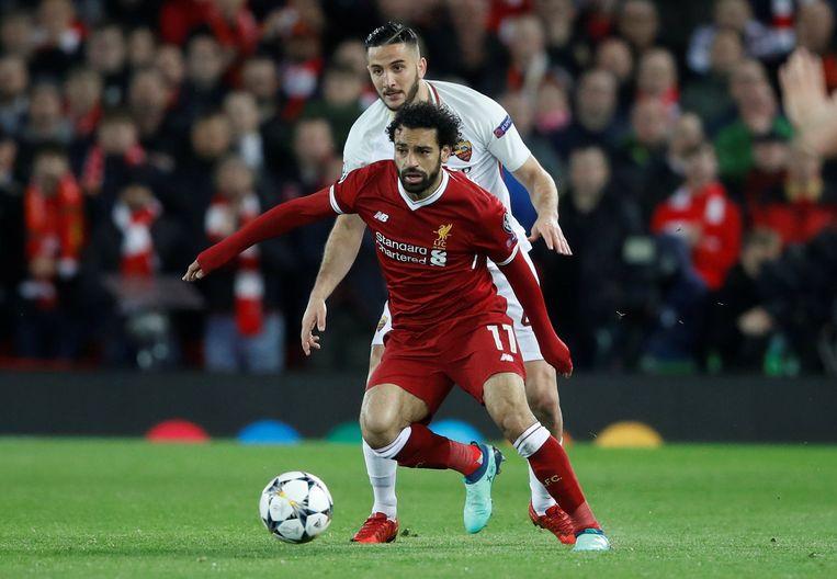 Liverpool-speler Mo Salah rolde AS Roma op met twee goals en twee assists. Beeld REUTERS