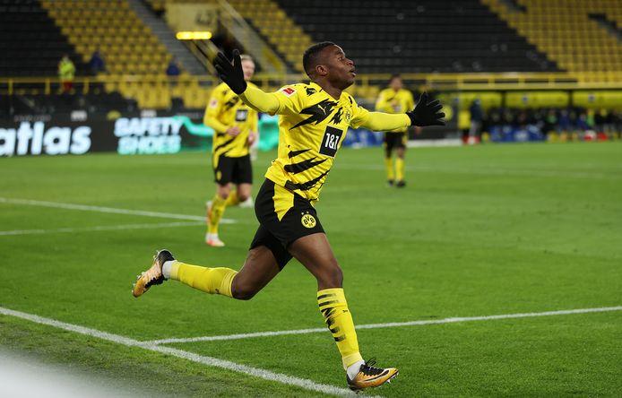 Youssoufa Moukoko scoorde dit seizoen al drie keer in de Bundesliga.