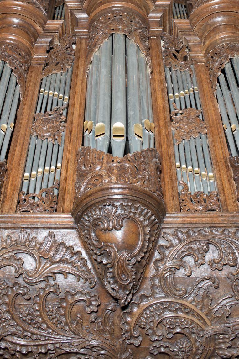 Nijkerk, detail van het Van Deventerorgel. Beeld Annabel Miedema
