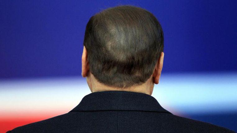 Berlusconi in Brussel, begin deze maand. Beeld reuters