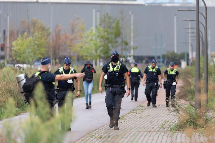 Eind augustus was de politie op zoek naar een granaat in Deurne.