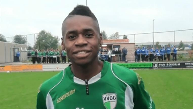 VVOG-speler Pernelly Biya. Beeld YouTube