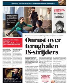 cover van de krant vandaag