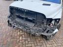 De schade aan de pick-up van Jaco Zwaan