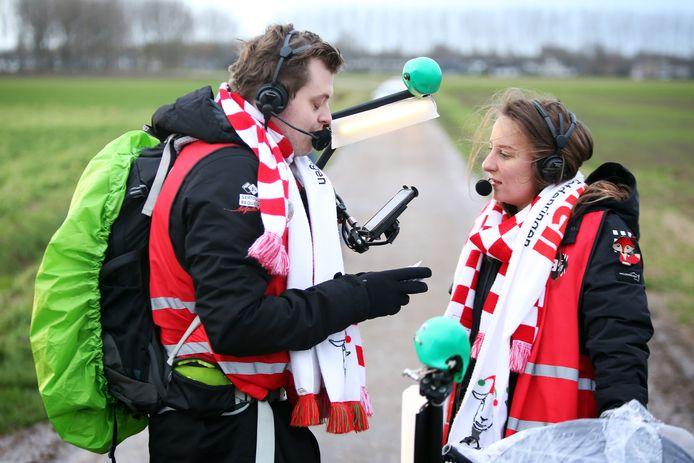 De 3FM dj's Jorien Renkema (foto) en Rob Janssen vorig jaar tussen Bavel en Raamsdonksveer.
