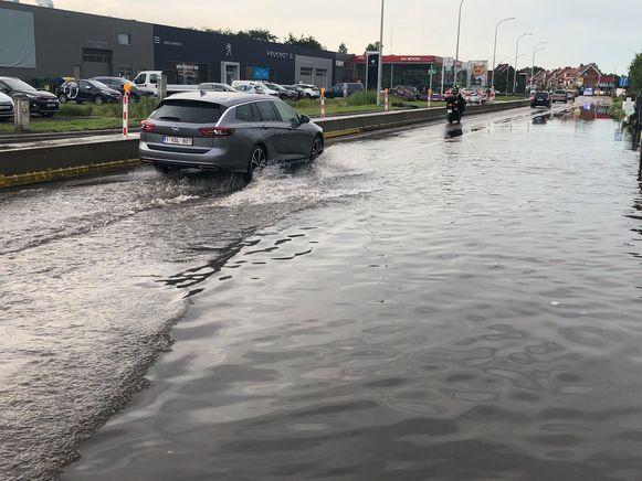 Wateroverlast in Ekeren.