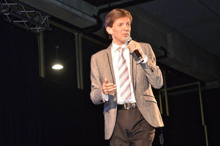 Paul Severs tijdens zijn laatste optreden in Aarschot twee dagen voor hij getroffen werd door een hartaanval.