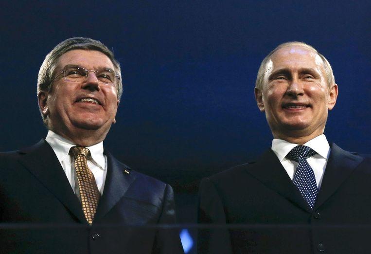 IOC-preses Thomas Bach en de Russische president Vladimir Poetin. Beeld reuters