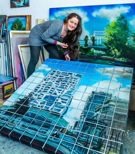 Sophia maakt prachtige schilderijen van het moderne Utrecht, maar niemand koopt ze: 'Ze kosten echt tering veel tijd'