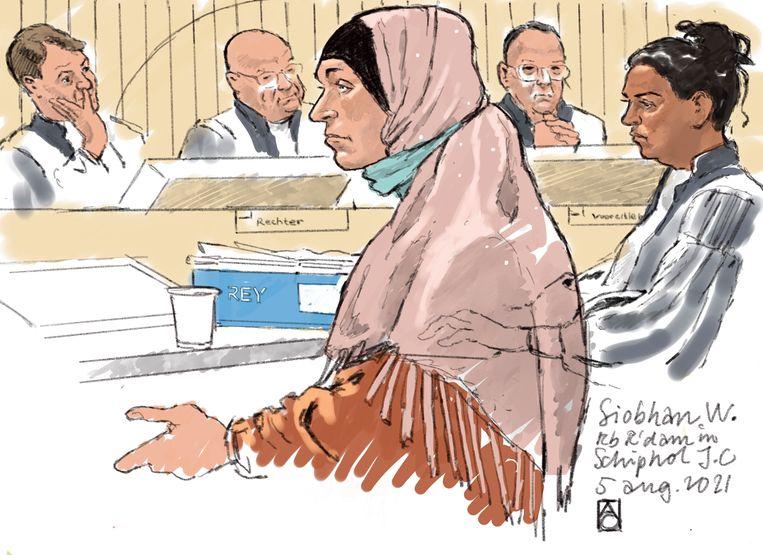 Rechtbanktekening van Siobhan W. Beeld Hollandse Hoogte /  ANP