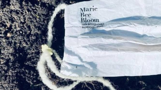 Dit mondmasker doet de afvalberg niet groeien, maar verandert in bloemen nadat je het weggooit