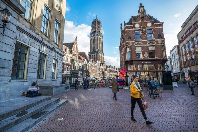 Het Stadhuisplein in Utrecht.