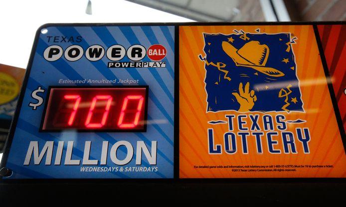Promotie voor de Powerball-loterij, toen de jackpot nog op 700 miljoen dollar stond.
