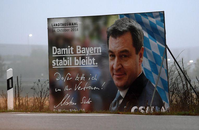 De Christlich-Soziale Union (CSU) is al jaren de grootste partij van het conservatieve Beieren. Beeld AFP