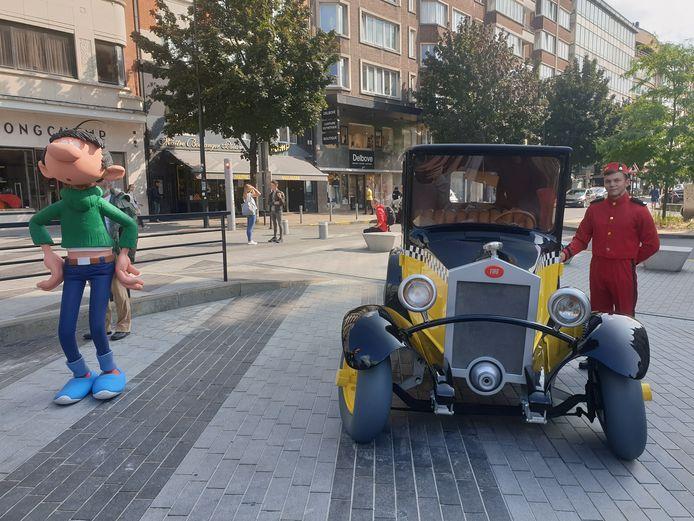 Spirou venait juste d'ouvrir la portière de Gaston Lagaffe à Charleroi
