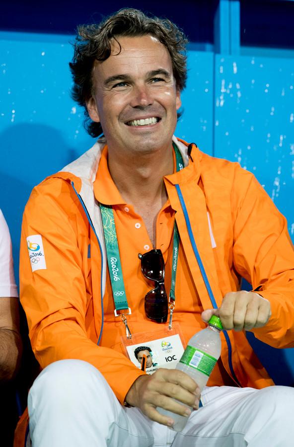 IOC-lid Camiel Eurlings op de tribune tijdens de Olympische Spelen van Rio de Janeiro in 2016.