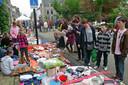 Archieffoto van de kleedjesmarkt in Warnsveld.