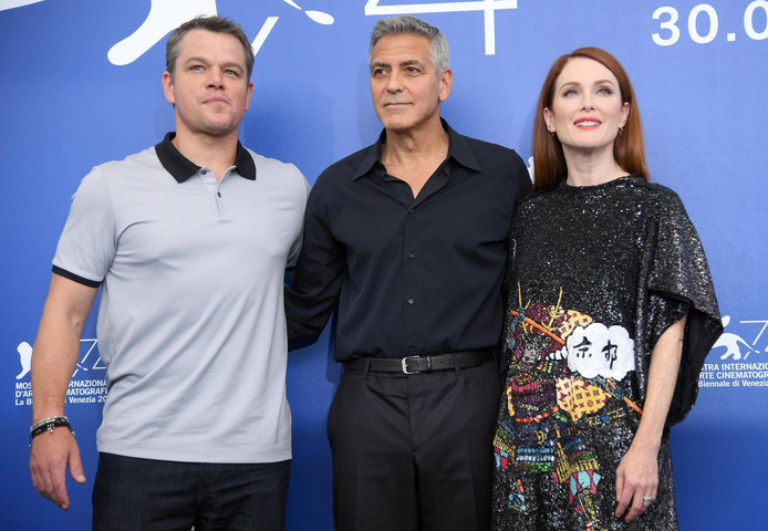 George Clooney, Matt Damon en Julianne Moore