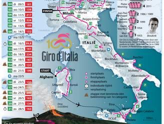 Volledig parcours en alle etappes van de Giro d'Italia