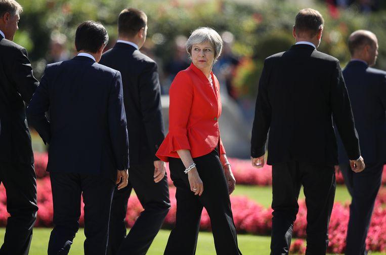 Of het nu gaat om een onwillige partij of Europese regeringsleiders die dwarsliggen, Theresa May stapt altijd snel over tegenslagen heen. Beeld Getty Images