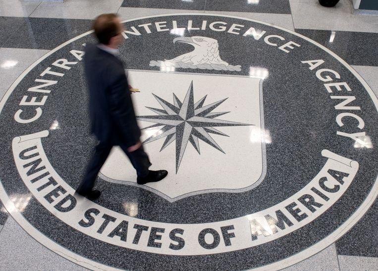 De binnenkomst van het hoofdkantoor van de CIA.  Beeld AFP