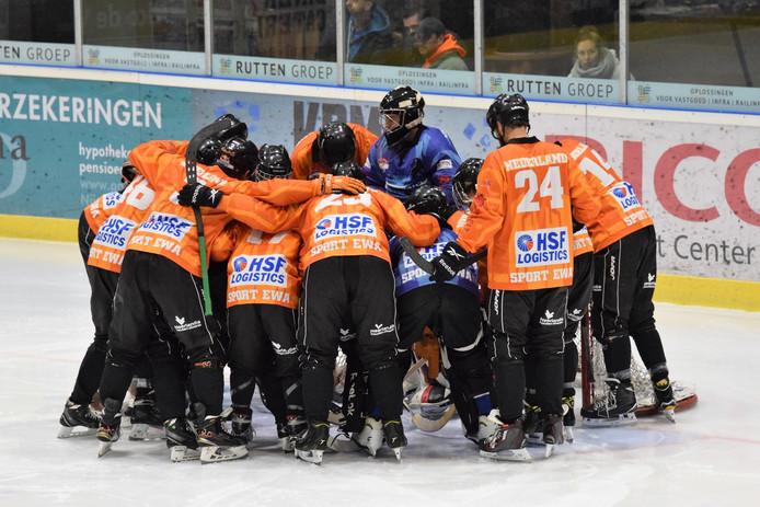 Het Nederlandse team in actie.