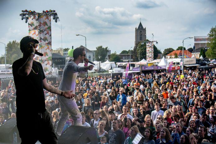 Big2 in actie op Appelpop zaterdag.