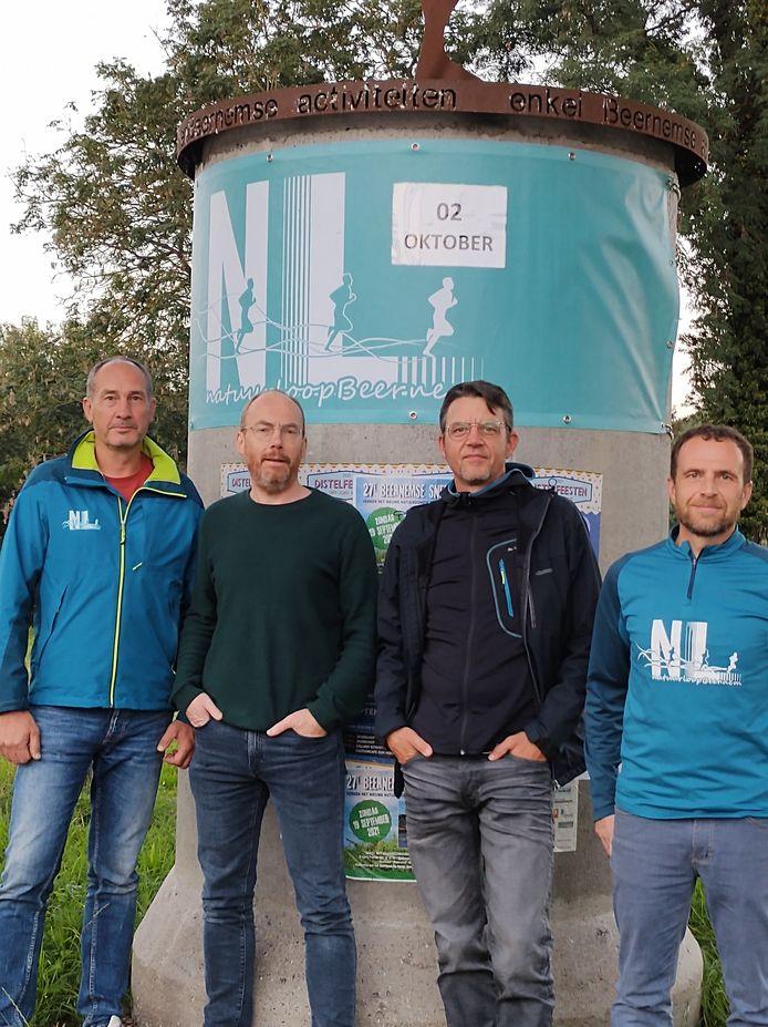 Nico Debel, Jan Kindt, Piet De Rycke, Tjörven Bossu van Natuurloop Beernem.