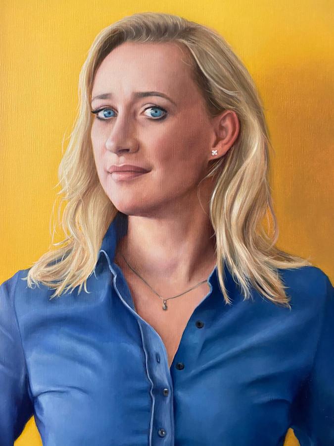 Het realistische portret van Eva Jinek.
