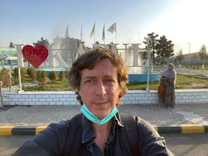 Robin Ramaekers à Kaboul.