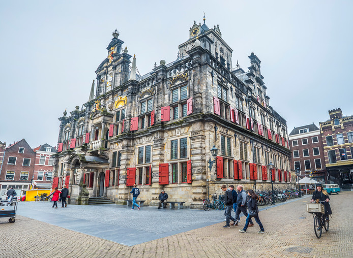 Het oude stadhuis van Delft