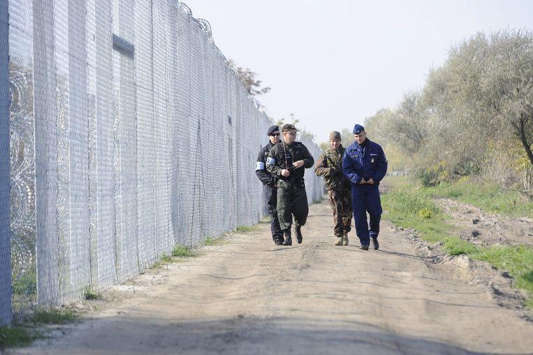 Hekken tussen Hongarije en Servië. Beeld afp