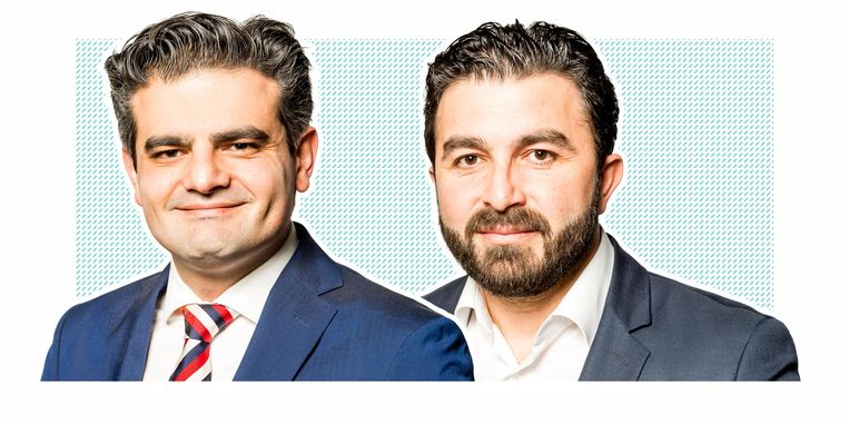 Denk-oprichters Tunahan Kuzu en Selcuk Öztürk Beeld fotobewerking: de Volkskrant