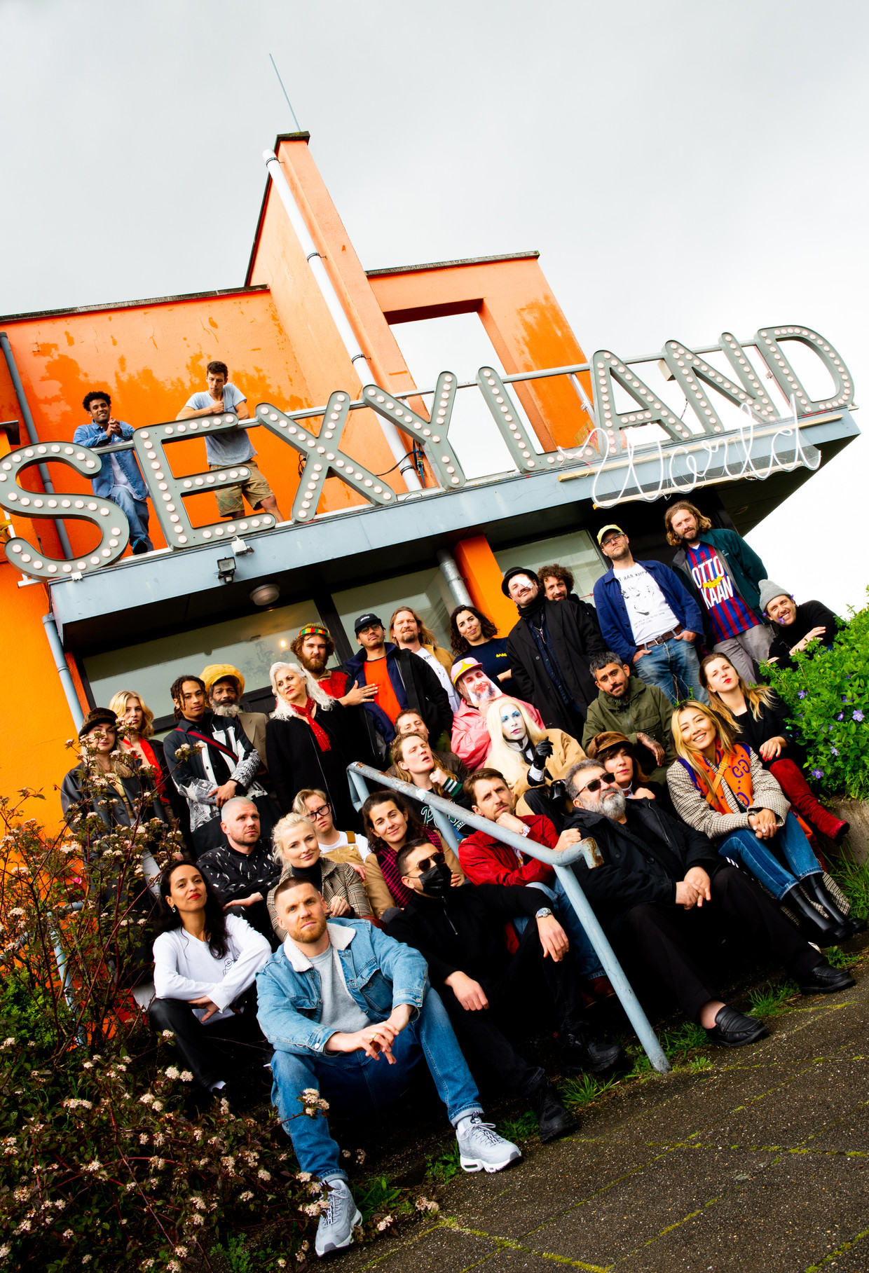 De ploeg van Sexyworld. Beeld Marjolein van Damme