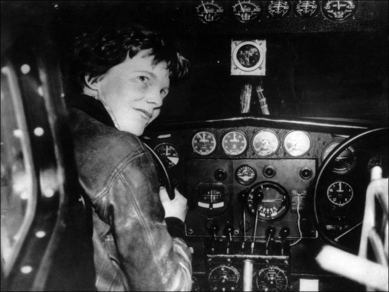 Amelia Earhart in 1932. Beeld afp