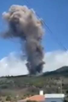 Éruption d'un volcan en cours sur l'île de La Palma, dans l'archipel des Canaries