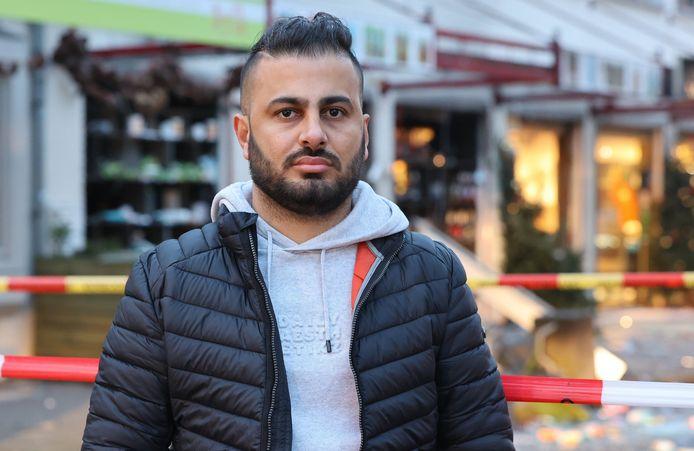 Shawn Rabati Mahmoud, eigenaar van de getroffen Biedronka in Heeswijk-Dinther.