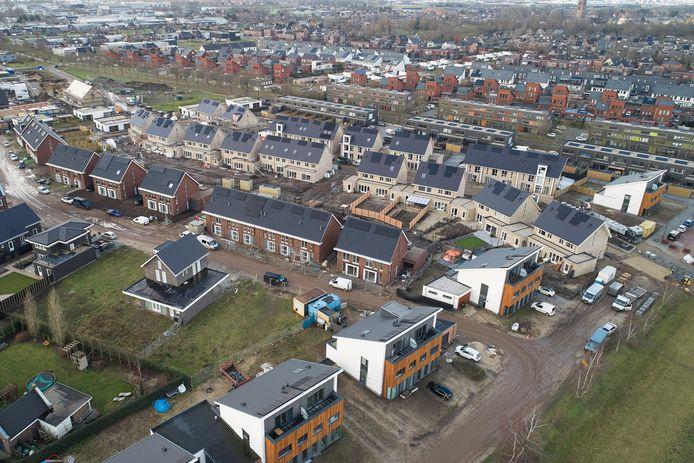 De straten Sleutelbloem en Zonnebloem zijn de laatste plekken in de Piekenhoef waar nu nog koophuizen worden gebouwd.