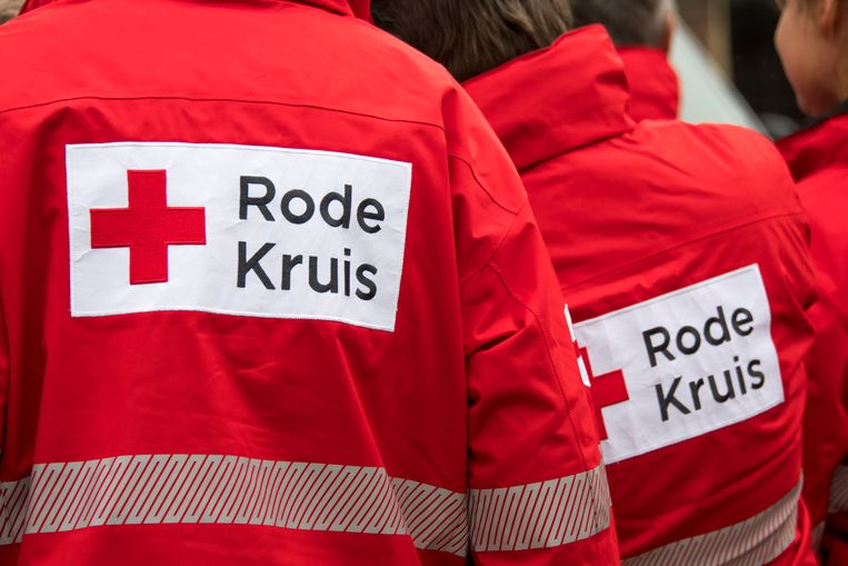 Het logo van het Rode Kruis.  Beeld ANP, Lex van Lieshout